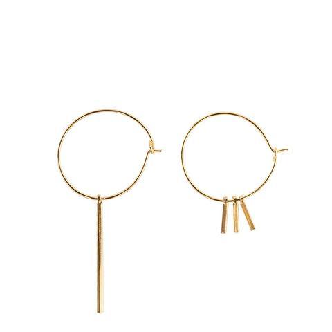 Assymetric Earring Hoop Set