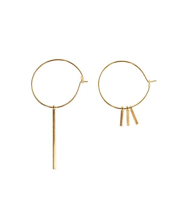 Pixie Market Assymetric Earring Hoop Set