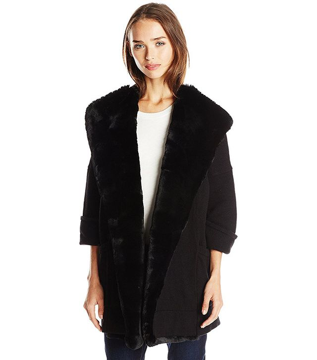 French Connection Whistler Faux Fur Knits Cardigan