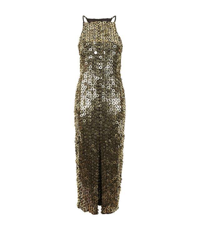 Topshop Disc Sequin Midi Dress