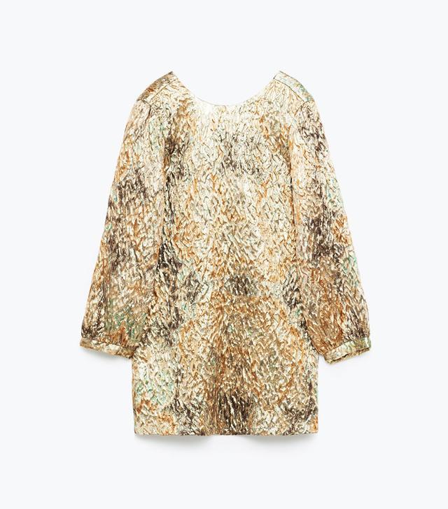 Zara Shimmer Jacquard Dress