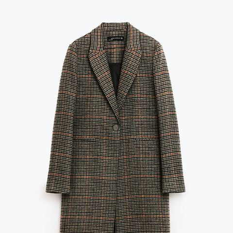 Masculine Checked Coat