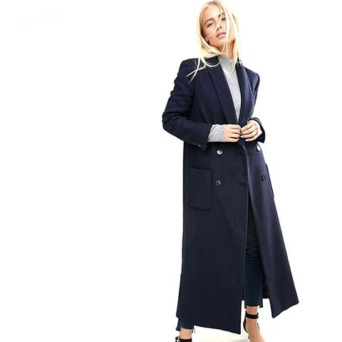 Coat in Mansy Block with Shawl Collar