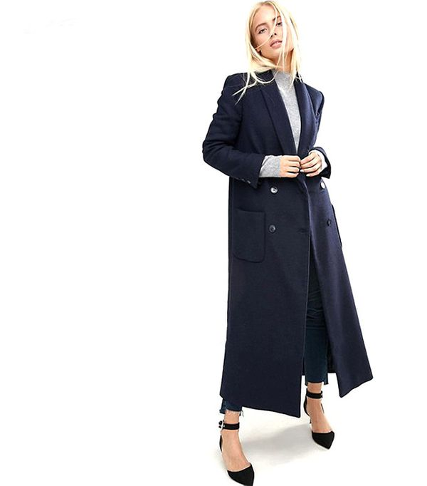 ASOS Coat in Mansy Block with Shawl Collar