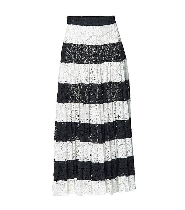 Romance Was Born Patchwork Pleated Skirt