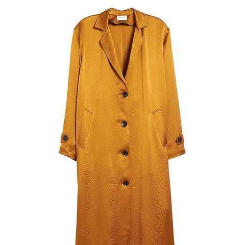 Oro Hammered Silk Coat