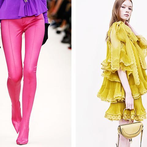 fashion predictions 2017: bright colours at Balenciaga and frills at Chloe