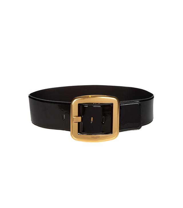 Saint Laurent Carré Patent-Leather Waist Belt