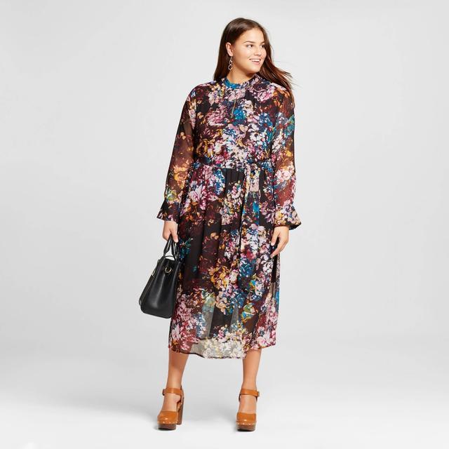 Who What Wear Printed Mini Dress