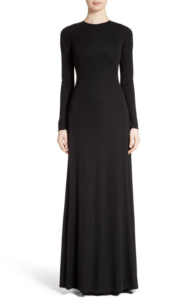 Roberto Cavalli V-Back Jersey Gown
