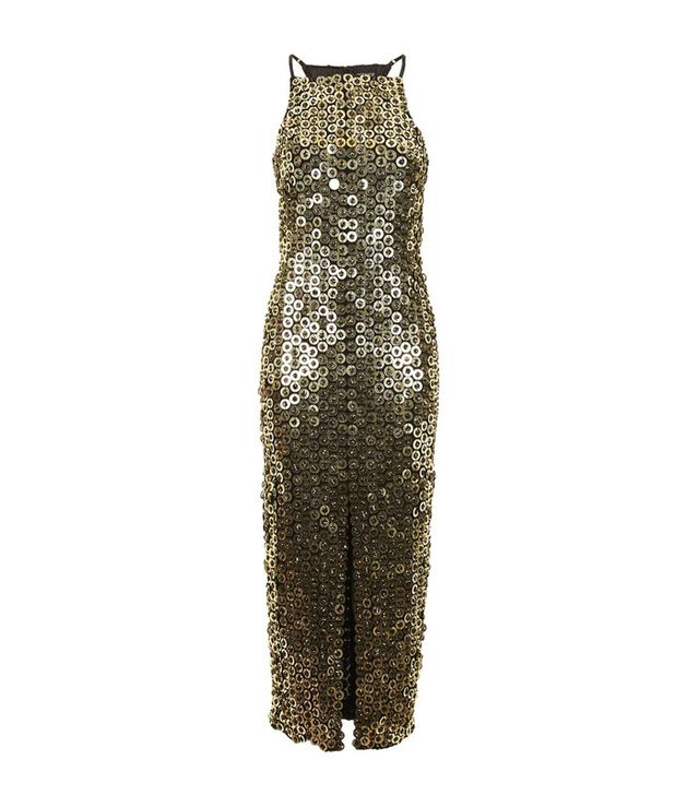 Topshop Disc Sequin Midi Dress