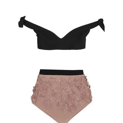 Windsome Posy Appliqued Bikini