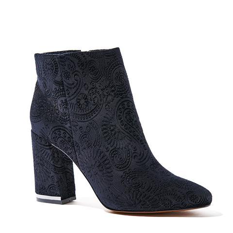 Cora Paisley Velvet Booties