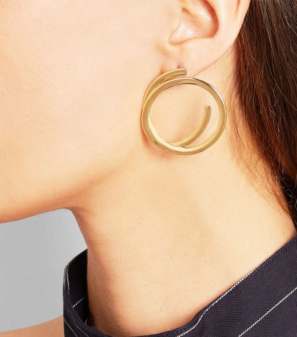 Elizabeth & James Connolly Gold-Plated Hoop Earrings