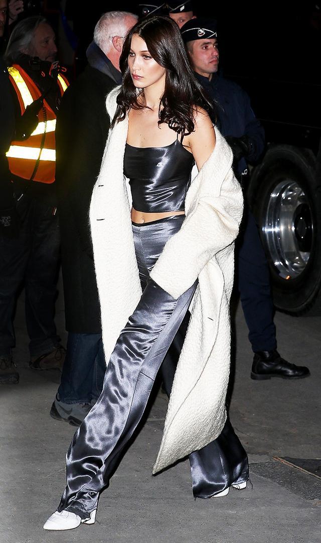 On Bella Hadid:Bec & Bridge top and pants.
