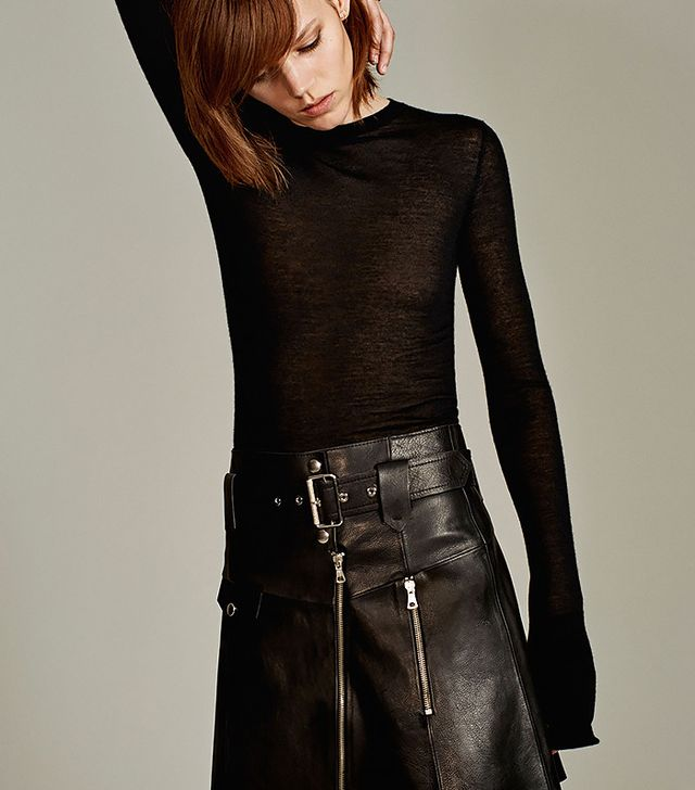 Zara Leather Studio Skirt