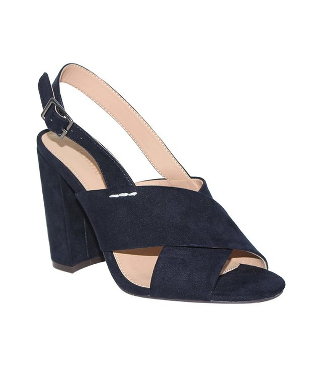 Who What Wear Harper Microsuede Crossband Heels