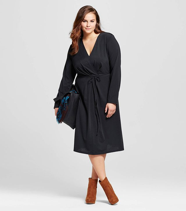 Who What Wear Cross-Over Midi Dress