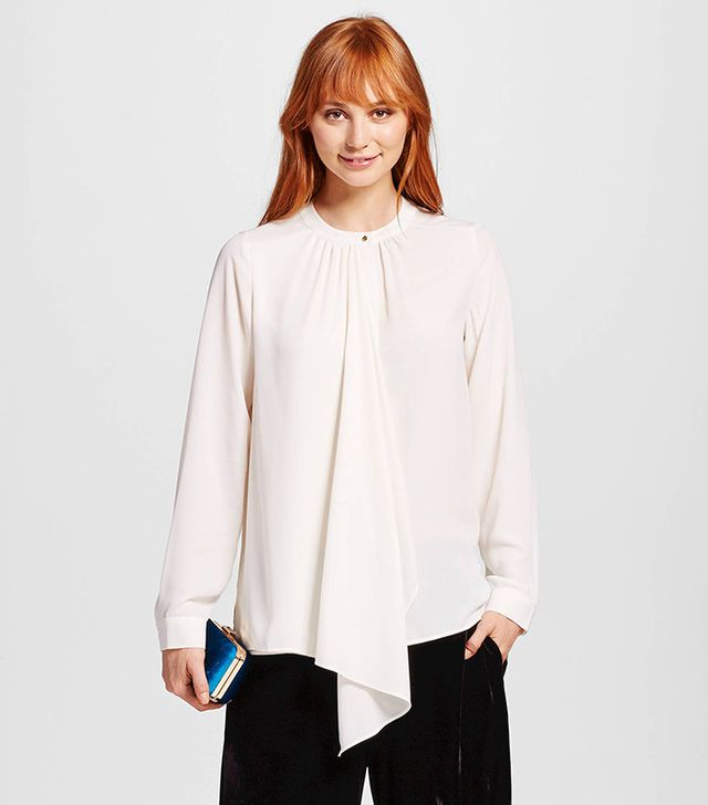 Who What Wear Cascade Blouse