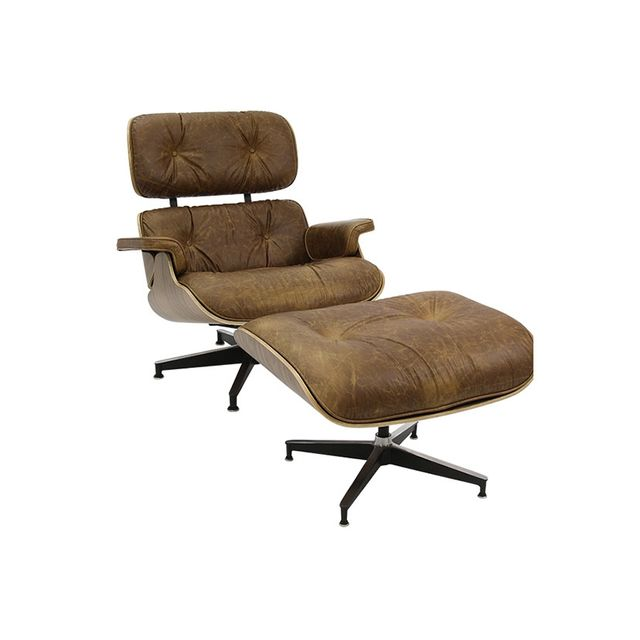 Matt Blatt Replica Eames Lounge Chair and Ottoman