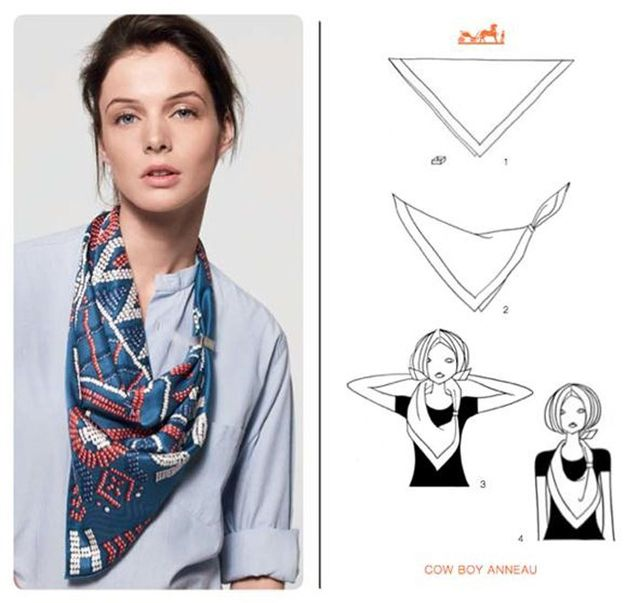 How herms wants you to tie your scarf whowhatwear how to tie a hermes scarf ccuart Choice Image