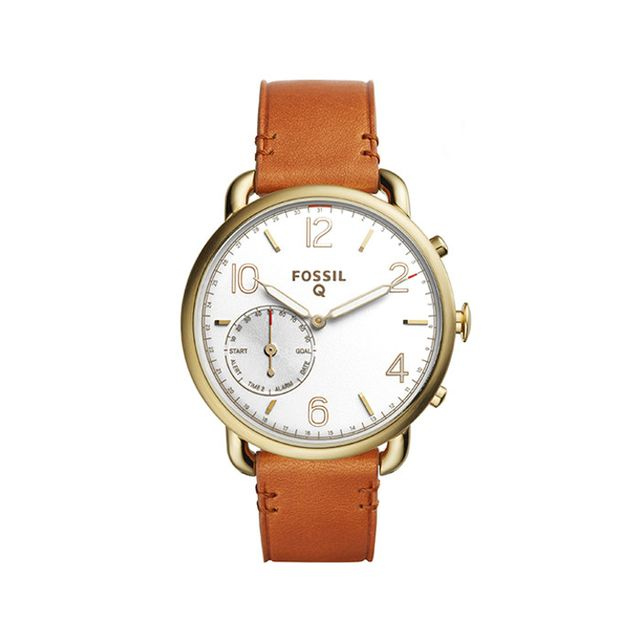Fossil Fossil Q Women's Tailor Hybrid Brown Leather Strap Smartwatch