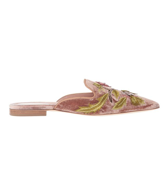 Alberta Ferretti Embroidered Slip-On Mule