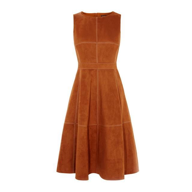 Karen Millen Suede Flared Dress