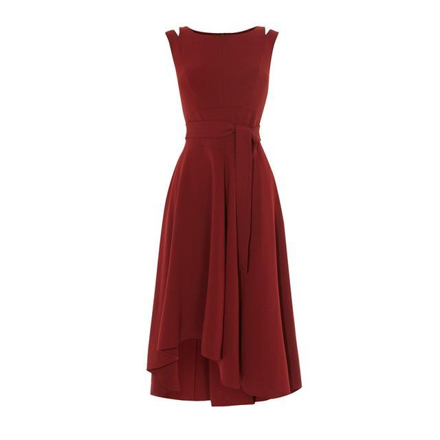 Karen Millen Crepe Midi Dress