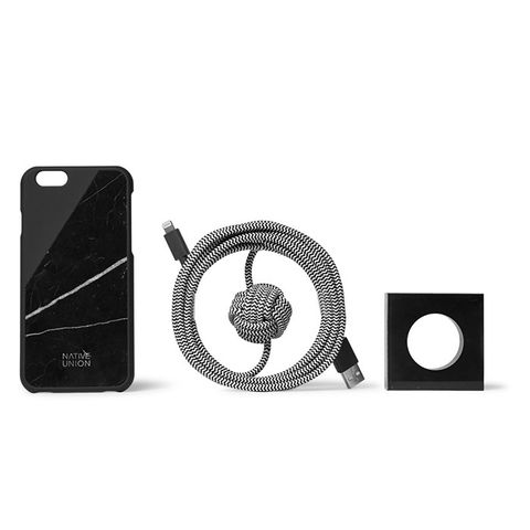 Night Marble CLIC iPhone Case and Cable Set