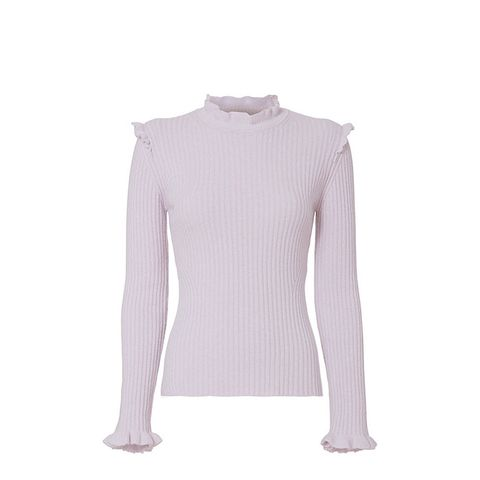 10 Crosby Ruffled Fitted Sweater
