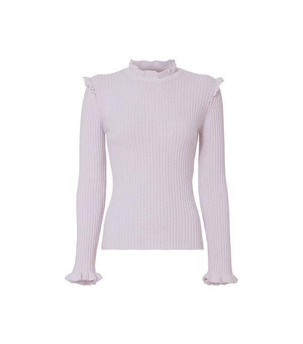 Derek Lam 10 Crosby Ruffled Fitted Sweater
