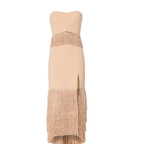 Strapless Fringe Dress