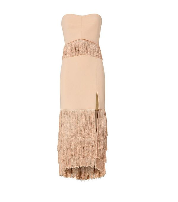 Jonathan Simkhai Strapless Fringe Dress
