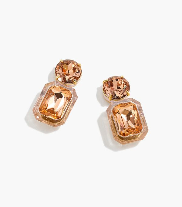 J.Crew Enamel Lucite Crystal Drop Earrings