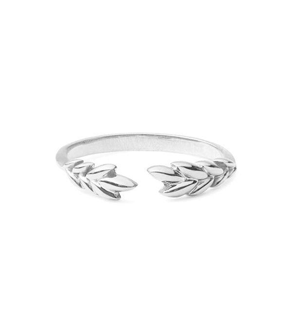 Mejuri Silver Olive Ring