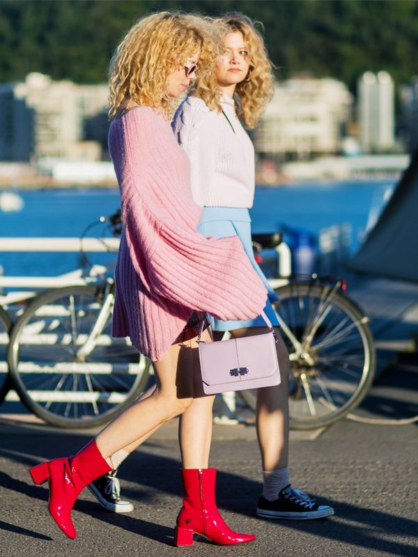 Red ankle boots: Maya Vik