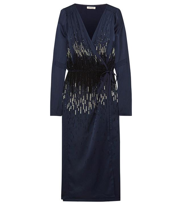 Attico Marlene Embellished Satin Jacket