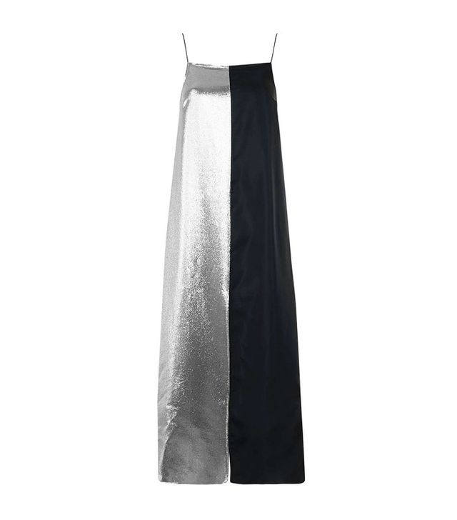 Topshop Lame Panelled Slip Dress by Boutique