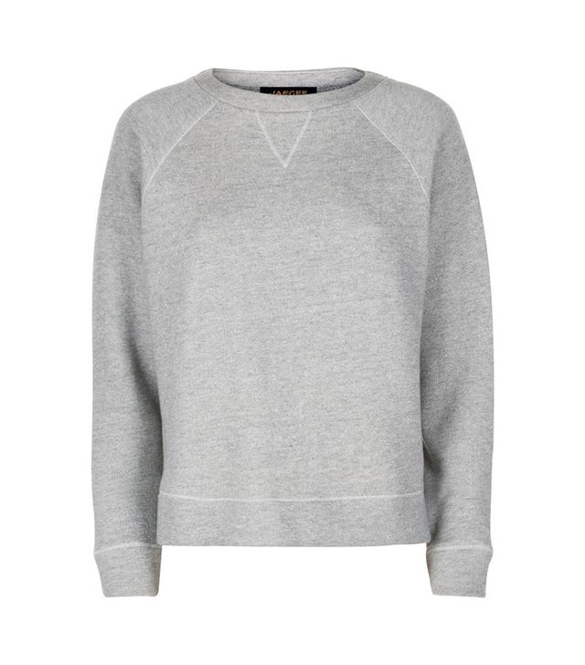 Jaeger Jersey Grey Marl Sweatshirt