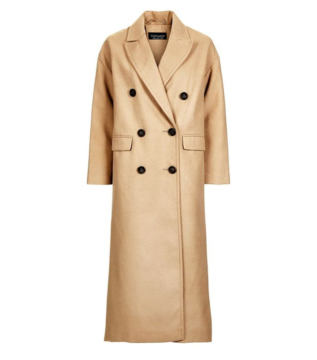 Topshop Double Breasted Slouch Coat