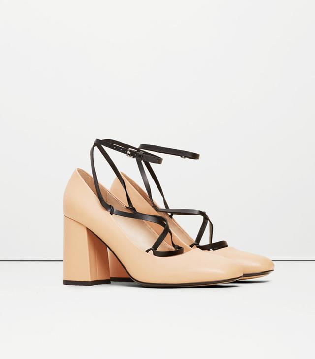 Mango Strap Leather Shoes