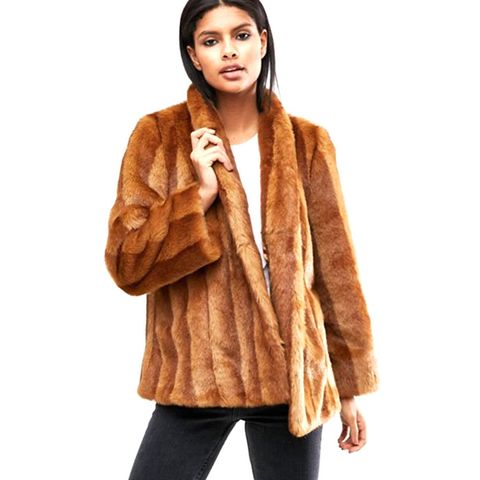 Luxe Faux Fur Swing Coat