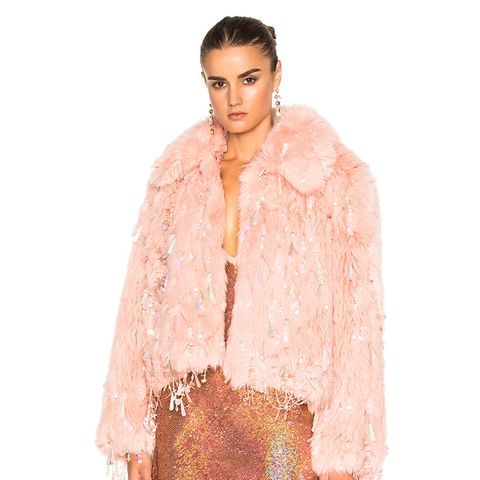 Faux Fur Dangle Jacket