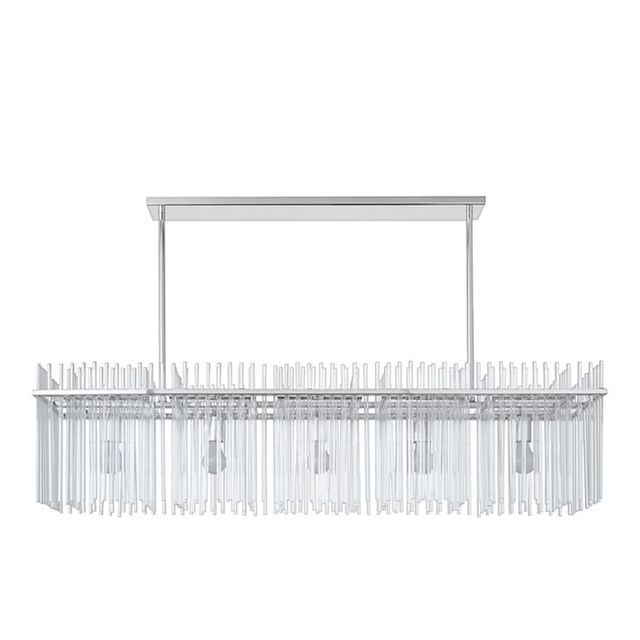 "Juno 52"" Linear Glass Chandelier"