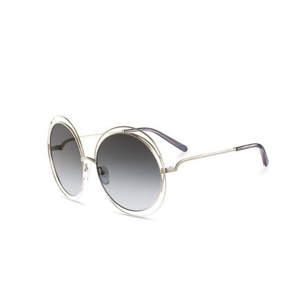 Chloé Carlina Round Oversized Sunglasses