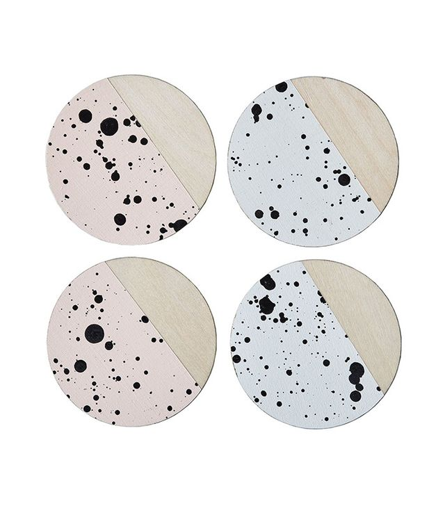 Madewell x Food52 Speckled Birchwood Coasters