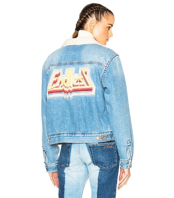 Isabel Marant Etoile Camden Denim Jacket in Medium Blue