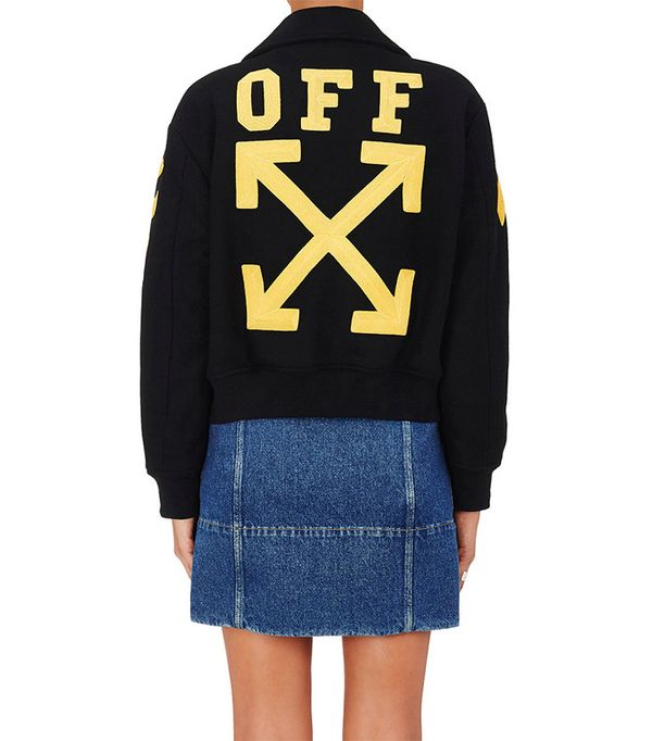 Off-White C/O Virgil Abloh Wool-Blend Varsity Jersey