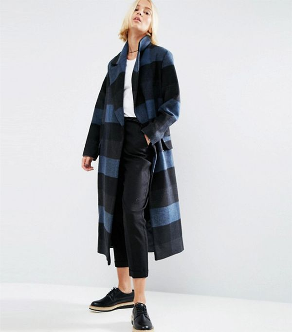 ASOS Coat in Oversized Check